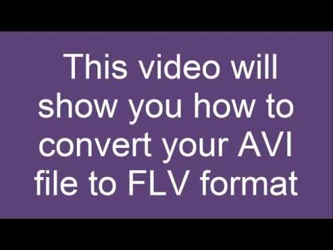 How to convert AVI to FLV