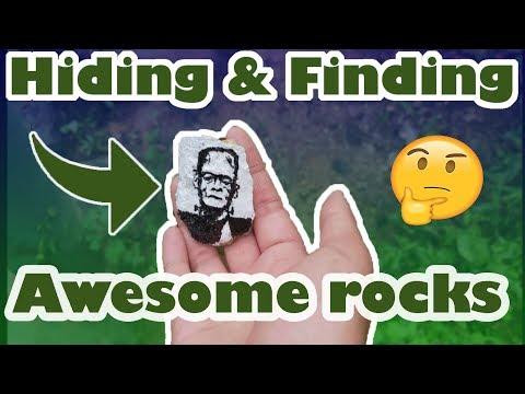 Painting & Hiding Georgia Art Rocks