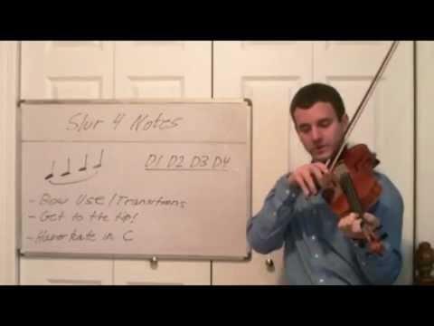 Slur Four Notes on Violin - Tips and Tricks for Violin Articulation