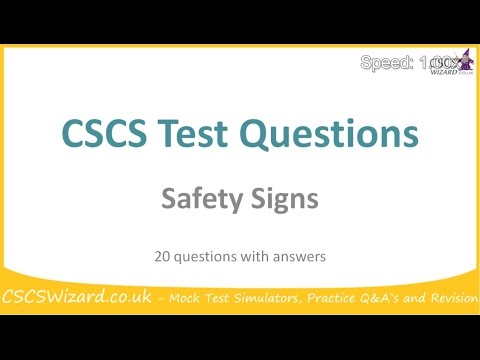 CSCS Test Questions   Safety Signs