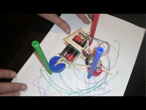 How to Make a robot  art at home / DIY  Simple Drawing  Robot / dc motor robot