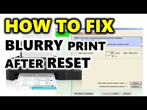 EPSON L120 ISSUE FIXED! (Blurry Print after waste inkpad counter reset)