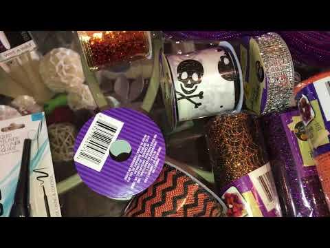 Dollar Tree Haul - Halloween Mesh Wreath Witch Hat and Legs