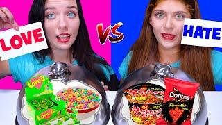 LOVE VS HATE FOOD CHALLENGE by LiLiBu | EATING SOUNDS