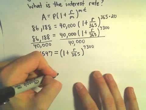 Finding an Interest Rate to Match Certain Financial Goals, Ex 2