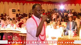 Oba Ewuare ll, N'Ogidigan . Gala night 1st year Coronation anniversary's performance by Ikponmwosa O