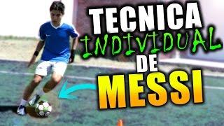 Técnica de Messi-Ejercicios para mejorar la técnica visión arranque y regate en el futbol