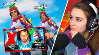 He is MAD my FORTNITE SKIN came out FIRST! (Grefg)