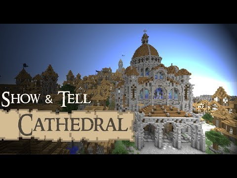 CATHEDRAL / basilica Show & Tell Medieval Minecraft Video