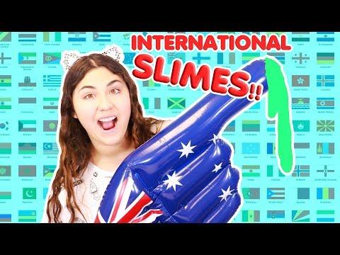 INTERNATIONAL SUBSCRIBERS SLIMES! ~ YOU GUYS SENT ME SLIMES FROM EVERYWHERE! Slimeatory #373