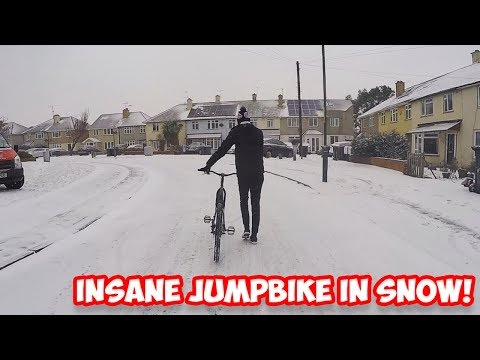 INSANE JUMPBIKE IN SNOW!