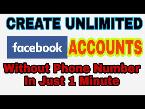Create Unlimited Facebook Accounts without Mobile Number | unlimited Fb Id Tricks 2018