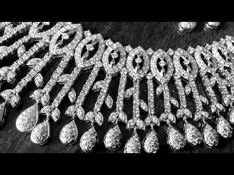 making of Diamond Necklace in India in 4 steps.