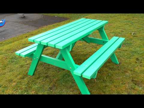 Recycled Plastic Picnic Table by Kedel - Derwent Range