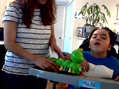 Teaching my daughter Maryanne who has brain damage