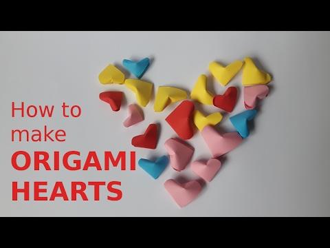 How to make mini ORIGAMI HEART