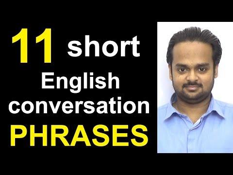 11 Short English Conversation PHRASES - Speak Fluent English - Common Expressions in English