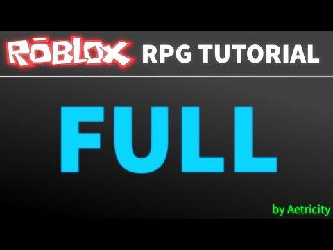 ROBLOX RPG Tutorial [FULL]
