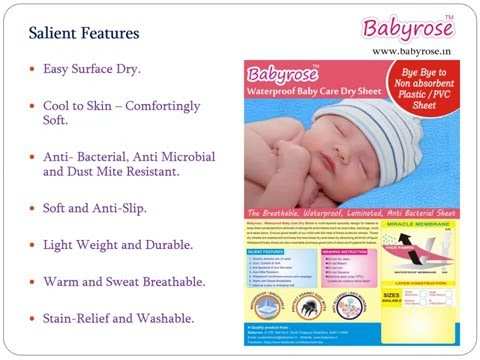 BABY DRY SHEET FOR MATTRESS PROTECT FROM BED WETTING