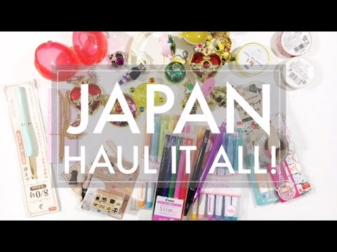 Japan Haul! // Sailor Moon Awesomeness + Stationery Goodies Itoya & Daiso - 516vlogs