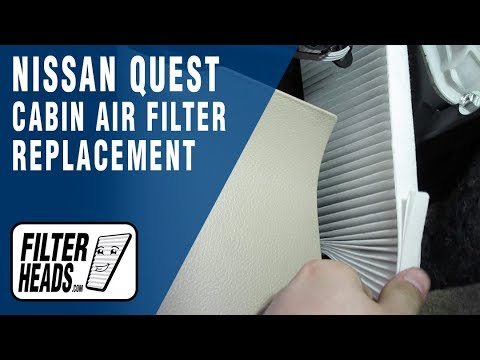 How to Replace Cabin Air Filter 2011-2016 Nissan Quest