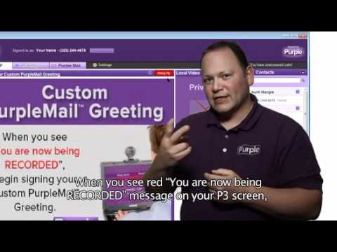 How do I record my own custom video mail greeting