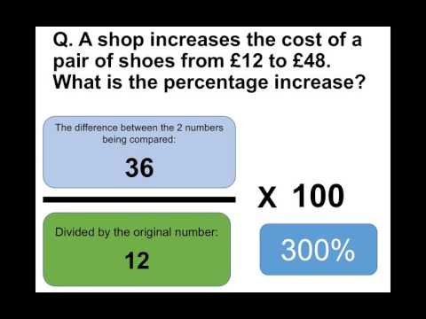 How To Calculate Percentage Increase - Sample Test Questions