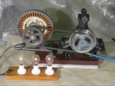 Homemade radial three cylinder air engine
