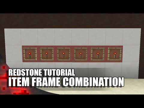 Minecraft: Item Frame Combination Lock (1 Wide + Expandable)