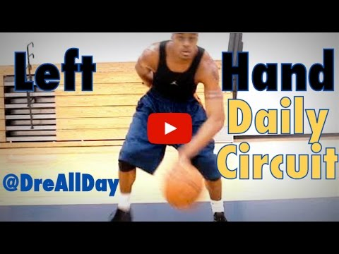 How To Improve Your Left Hand: Dribbling & Layups Daily Drill Circuit for Basketball   Dre Baldwin