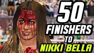 WWE 2K17 - 50 Finishers To Nikki Bella!