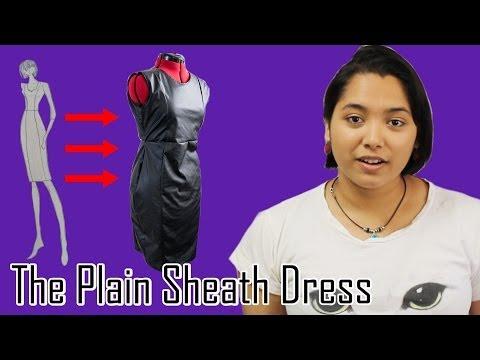 DIY-Pattern Making Tutorial: The Plain Sheath Dress