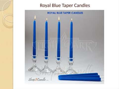 Dripless & Smokeless Royal Blue Taper Candles 10 Inch - Shopacandle
