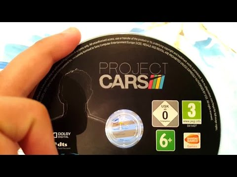 Project Cars PS4 Early unboxing in 4k!!!!