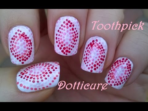 TOOTHPICK NAIL ART #1 / DIY Pink Mosaic Inspired DOTTICURE Nails