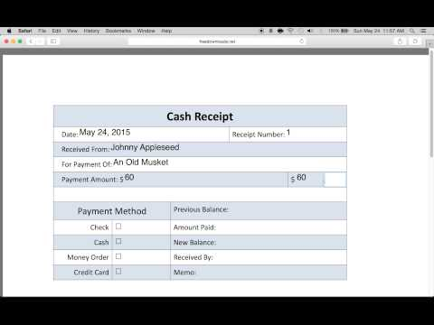 How to Write a Petty Cash Receipt Form
