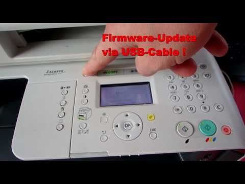 Canon Printer: Service Mode Factory Reset with Language and Firmware Update