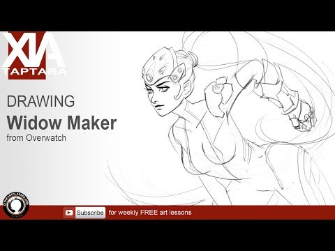 Drawing Overwatch Widowmaker stream 39