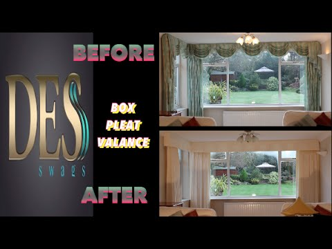 Box Pleat Valance and Curtains