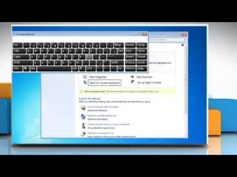 How to use the On-screen (virtual) Keyboard in Windows® 7