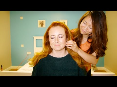 WhispersRed ASMR ❤︎ Essential Face and Scalp Massage with Hair Brushing For Relaxation  💖