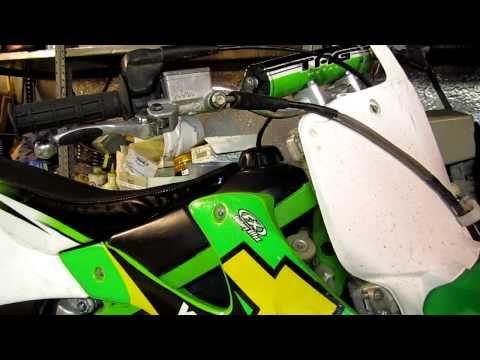 How to install dirtbike brake levers KX250 HD