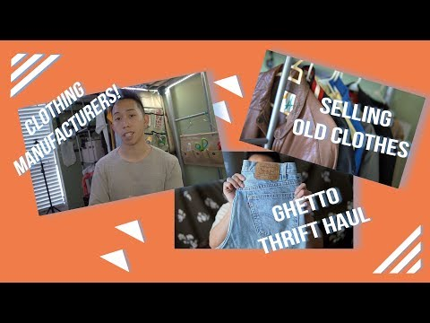 Clothing Manufactures 2017,  Mini Thrift Haul, and selling old clothes! | KenAndrewDaily 01