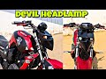 Make Your Bike Headlamp Look Like DEVIL LOOKS | Modification | Technokhan
