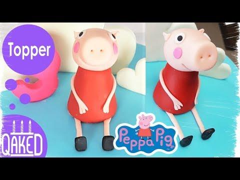 How to make a Peppa Pig Fondant Topper | Cake Topper Tutorial | DIY & How to