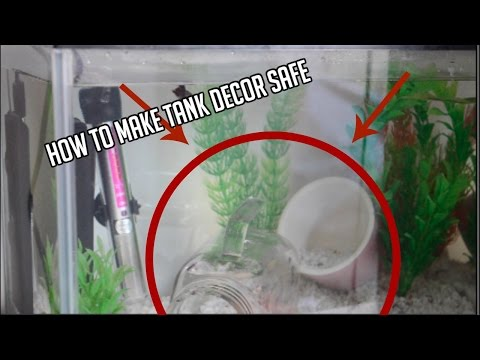 HOW TO MAKE DECOR SAFE FOR YOUR BETTA FISH | LISA THE LLAMA EXTRAS