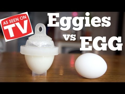 EGGIES vs. EGG | As Seen on TV Test | Does it Work?