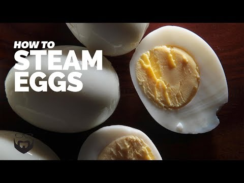 Steam Hard Boiled Eggs + How to Test Eggs for Freshness