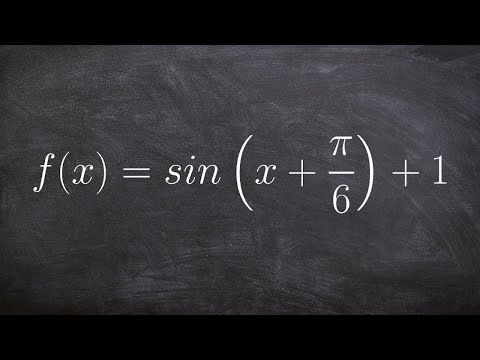 How to Graph the Sine Function by Applying a Phase Shift and Vertical Translation