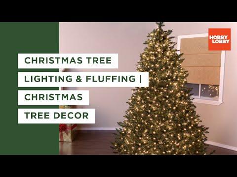 Christmas Tree Basics: Fluffing & Lighting
